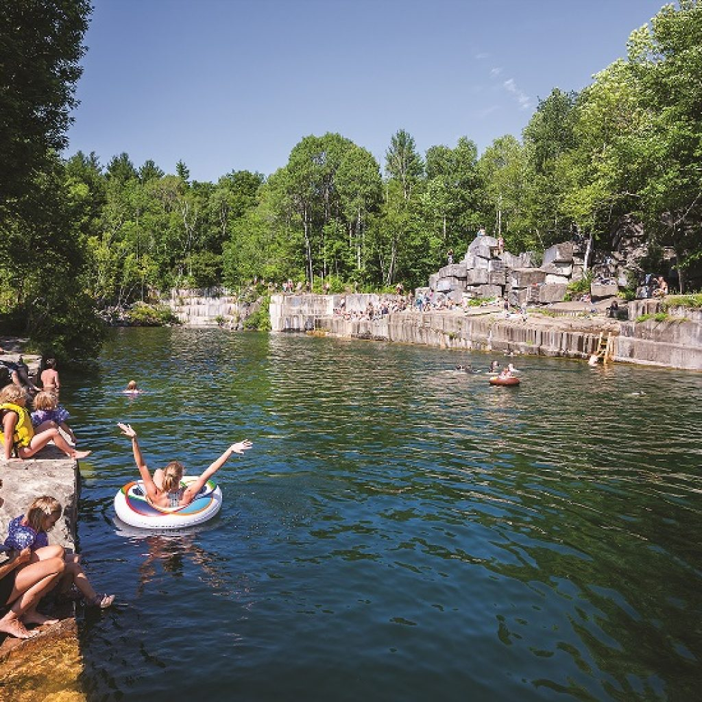 swimming at dorset quarry vermont